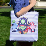 Candy Cove Pirate MinoMonsters Tote Bag sideview