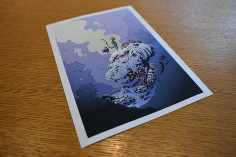 "Martin Hsu's Dragon Boy ""Upon"" Print"