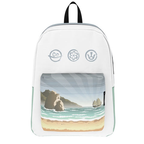 Battle Tails Beach Backpack front