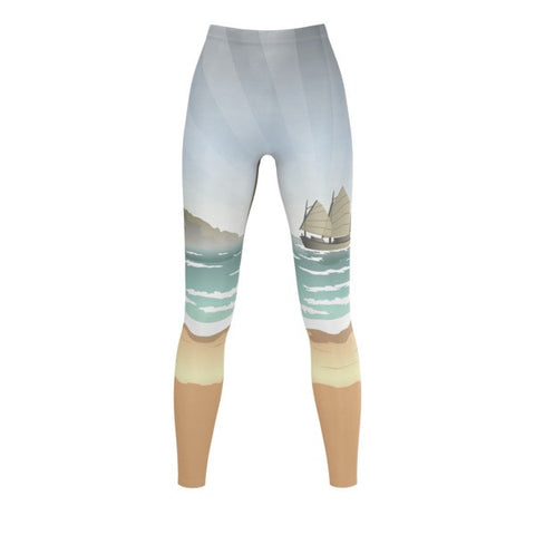 Beach Battle Tails Legging front