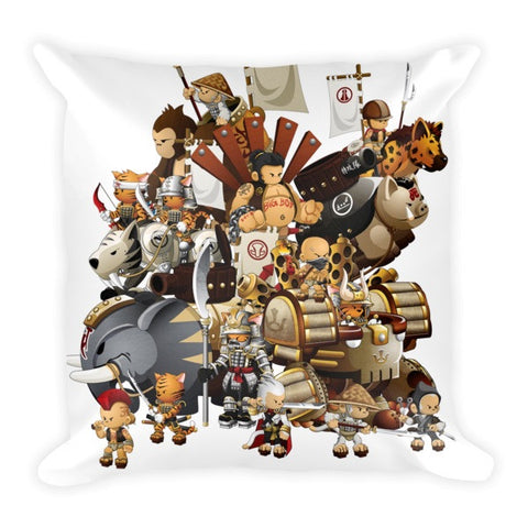 Group Shot Battle Tails Pillow front