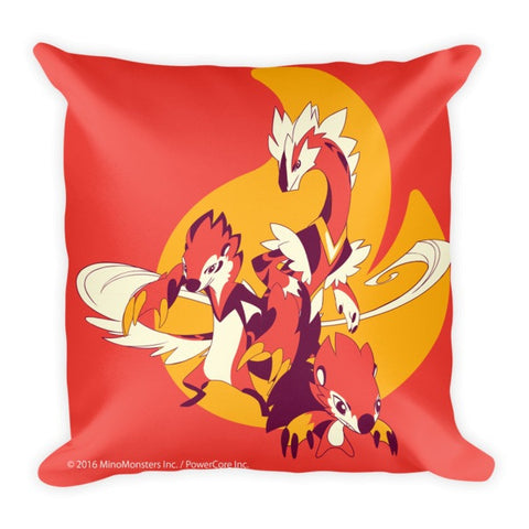 Patio Blazel MinoMonsters Fire Stone Pillow front