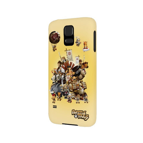 Group Shot Battle Tails Galaxy S5 Phone Case back