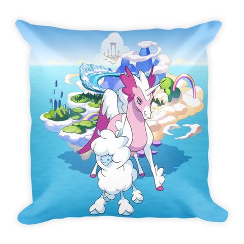 Cloudles and Starwind MinoMonsters Pillow front
