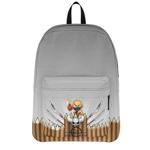 Armed Wall Battle Tails Backpack front