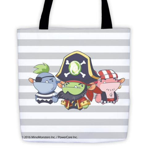 Candy Cove Pirate MinoMonsters Tote Bag front