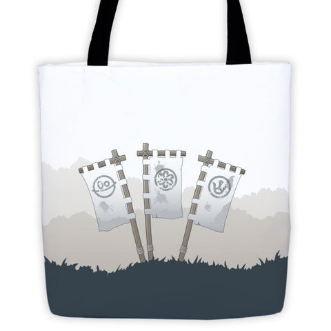 Clan Banner Battle Tails Tote Bag