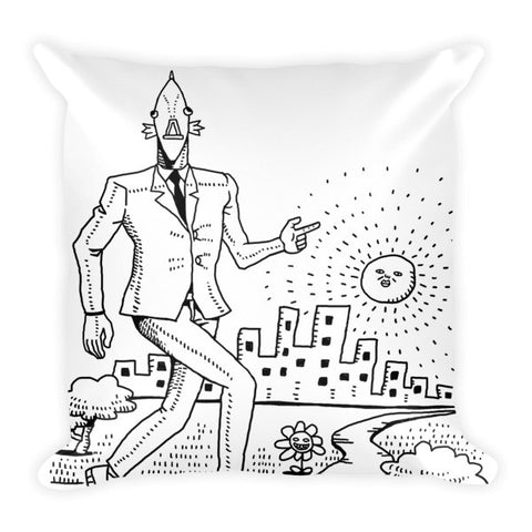 On the Town Business Fish Pillow front