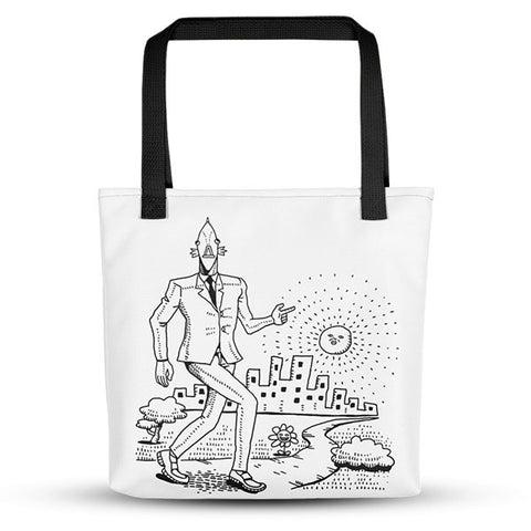 On the Town Business Fish Tote Bag