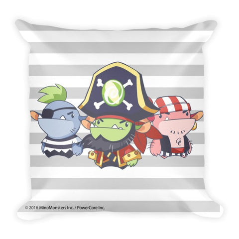 Candy Cove Pirate MinoMonsters Pillow front
