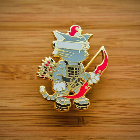 Cat Archer Art Pin