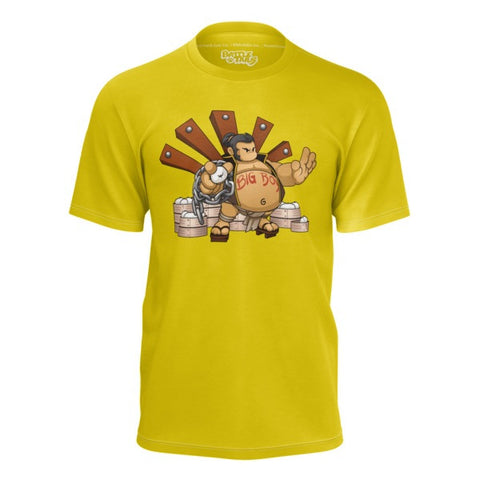 Yamahonda Battle Tails Yellow Shirt front