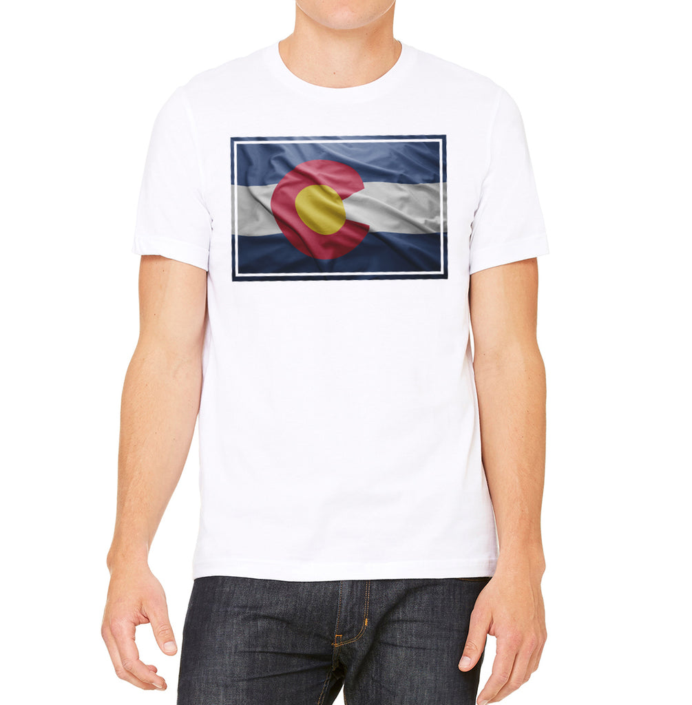White Colorado Flag Shirt Colorado Apparel