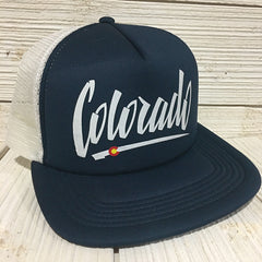 Foam Colorado Trucker Hat Mesh Foam