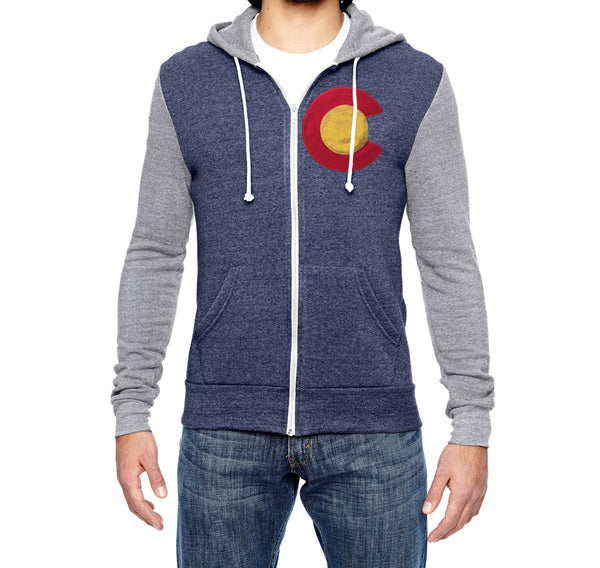 Men's Color-Block Zip Hoodie