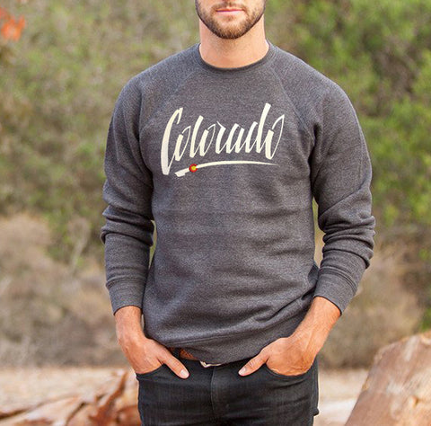 Embroidered Colorado Font Crewneck Sweater Unisex Fit