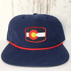 Golden Colorado, Colorado Clothing Hats and Accessories Navy red Retro Hat
