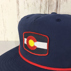 Colorado Flag Hat Retro Vintage Colorado Cap Red Navy