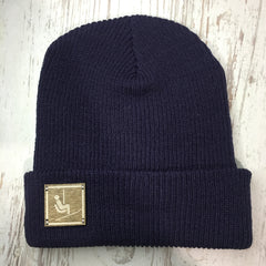 Chairlift Sign Beanie Colorado Clothing navy winter hat