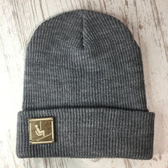 Wood Patch Beanie Skier Hat Ski Lift Beanie Colorado Themed Gifts