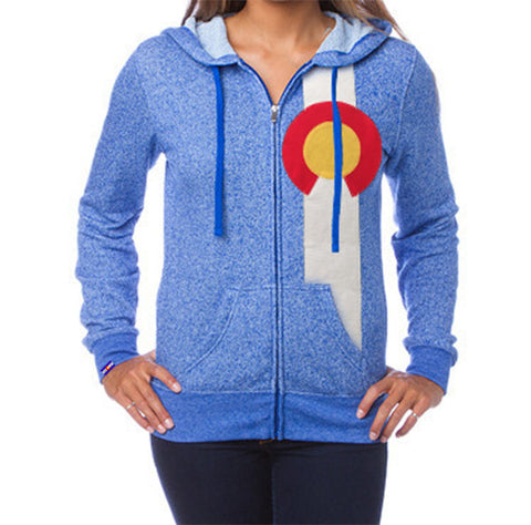 Ladies Full Zip Flag Hoodie