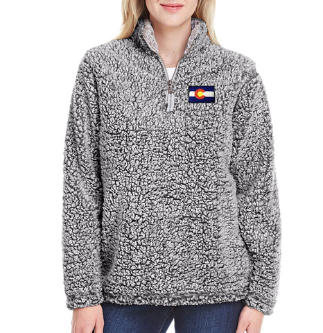 Women's Sherpa Colorado Jacket Gray Colorado Sweater Colorado Clothing