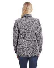 Colorado Clothing Women's Colorado Sweater Sherpa Soft Colorado State Sweatshirt Grey Back