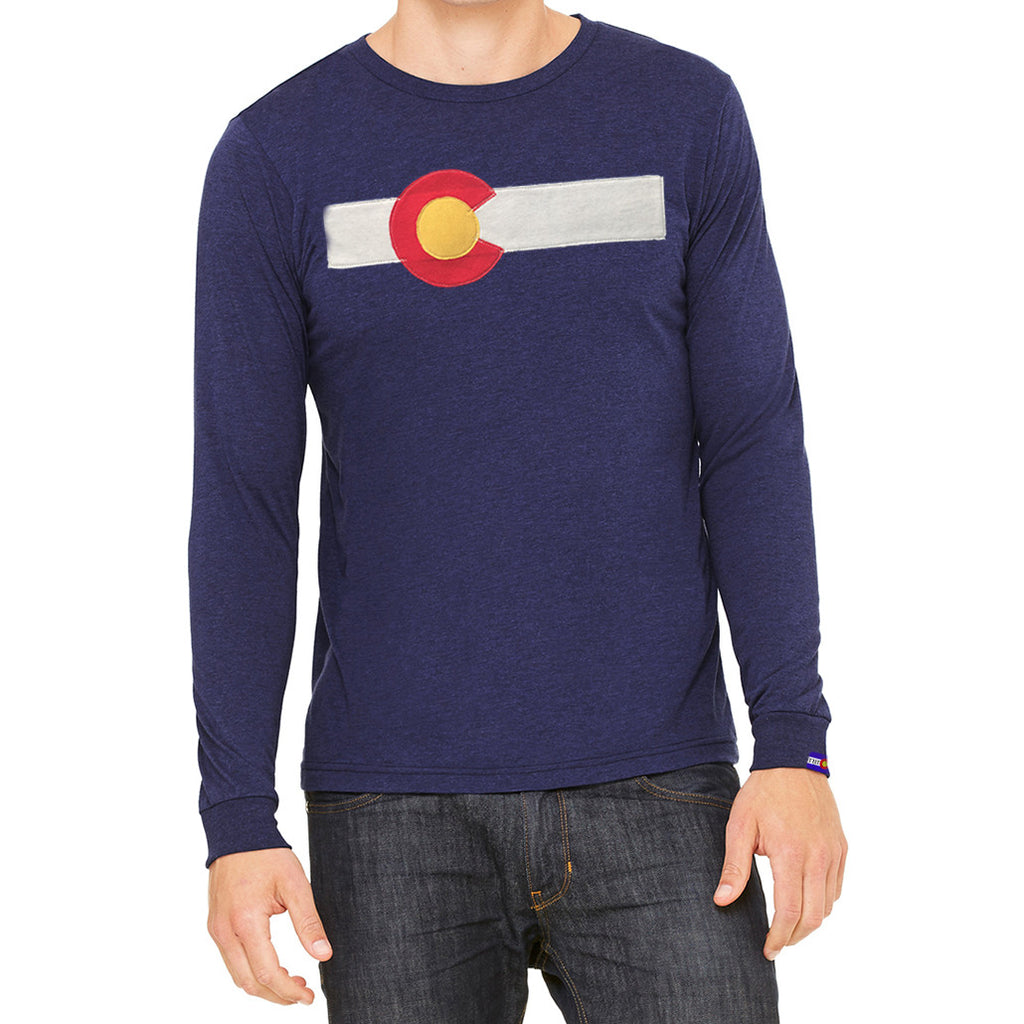 Men's Long Sleeve Colorado Flag Shirt
