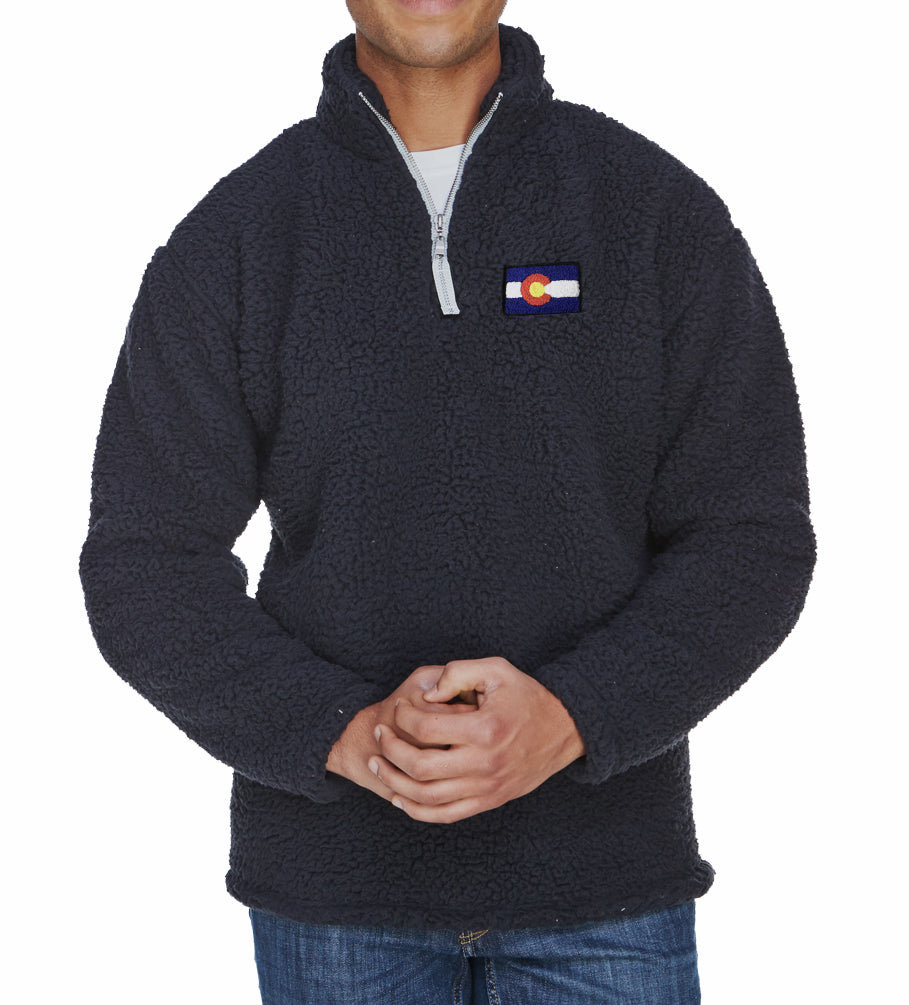 Black Sherpa Colorado Jacket Chenille Colorado patch