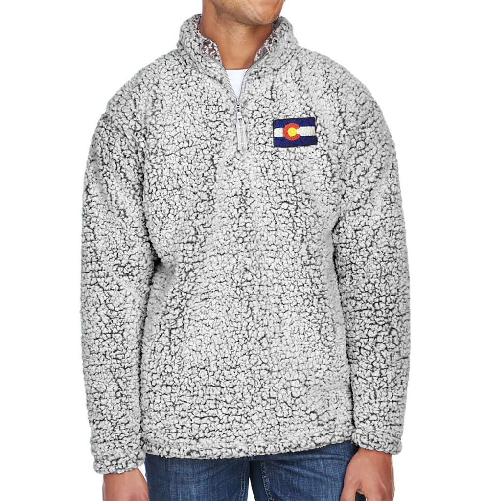 Colorado Jacket Sherpa Colorado Flag Gift Ideas Mens Colorado Sweater