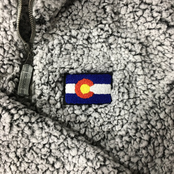 Chenille Colorado Flag Jacket Colorado Clothing Colorado Store