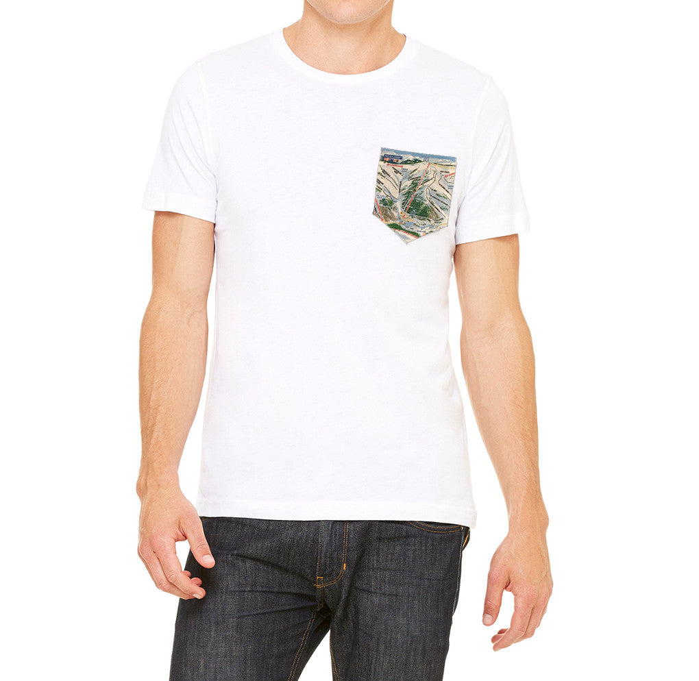 Colorado T-Shirt Trail Map Design Ski T-Shirt