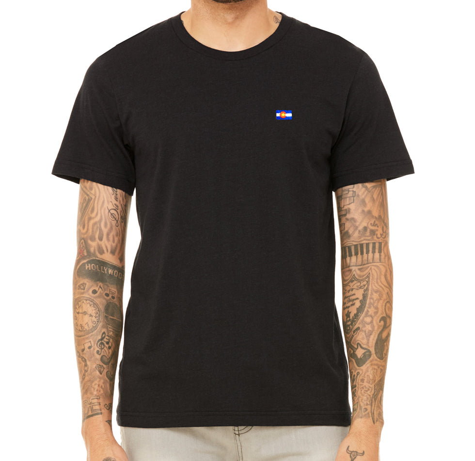 Black Colorado Flag T