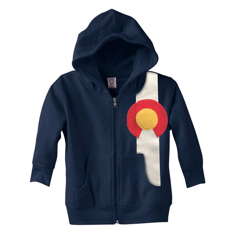 Toddler Colorado Sweatshirt Full Zip Colorado Hoodie