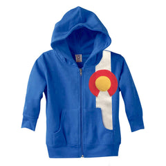 Royal Colorado Hoodie Toddler Full Zip