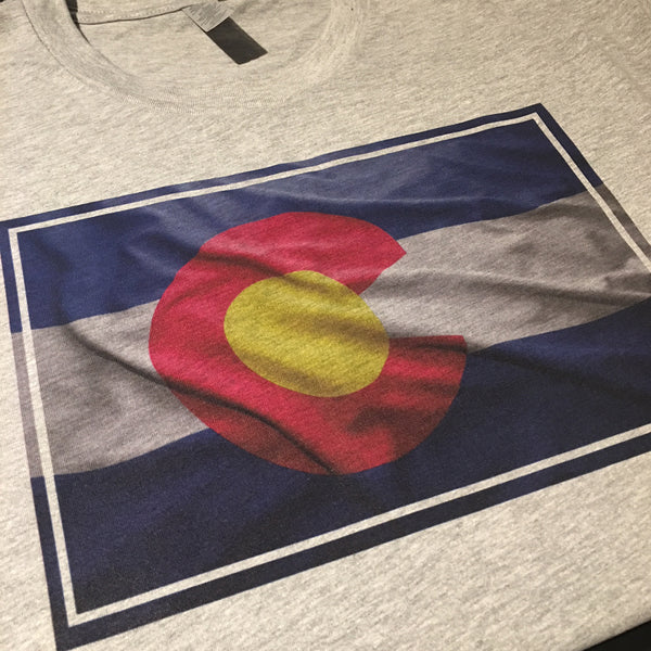 Printed Colorado Flag t shirts by Colorado Clothing