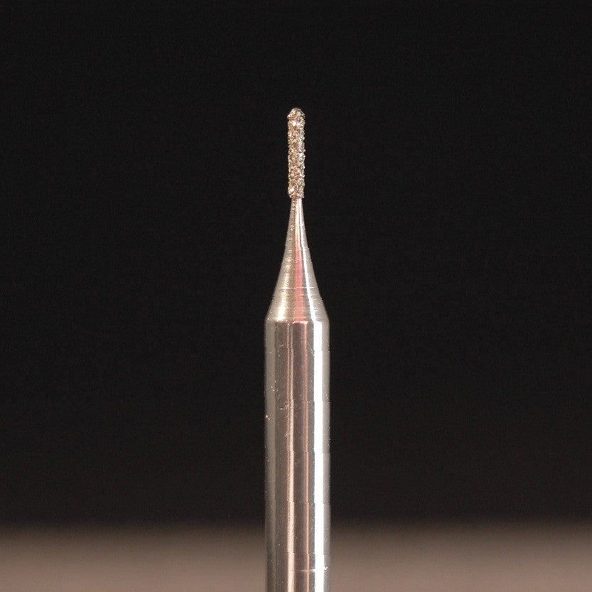 "A&M Instruments Industrial Diamond 0.03"" Flat End Cylinder (Mandrel) - 4378-0030 - A & M Instruments Quality Diamond Tools"