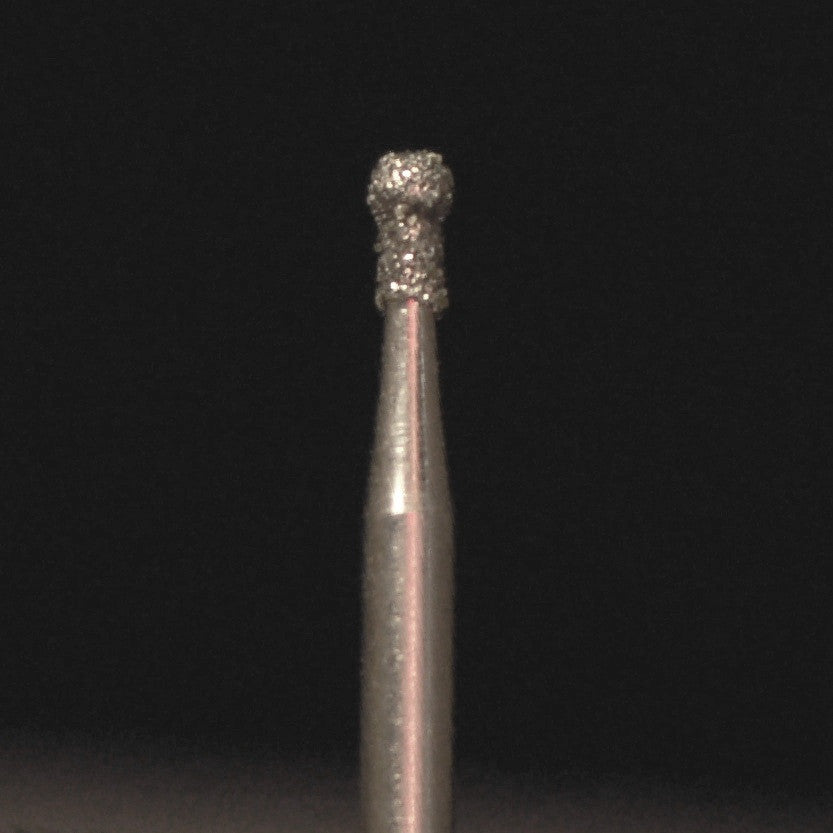 A&M Instruments Single Patient Use FG Diamond Dental Bur 1.6mm Round Ball w/Collar - A2.5L - A & M Instruments Quality Diamond Tools