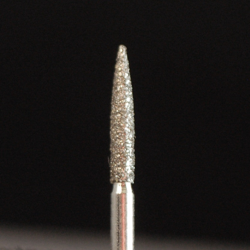 A&M Instruments Single Patient Use FG Diamond Dental Bur 1.6mm Flame - E57 - A & M Instruments Quality Diamond Tools