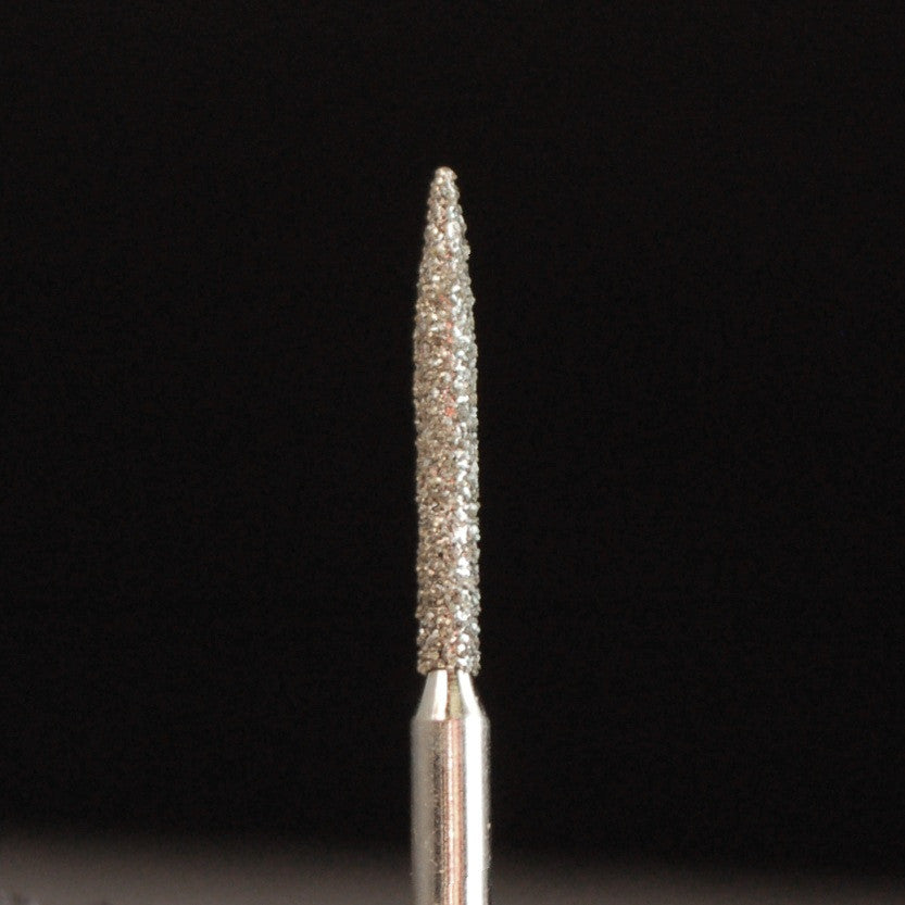 A&M Instruments Single Patient Use FG Diamond Dental Bur 1.3mm Long Flame - E5L - A & M Instruments Quality Diamond Tools