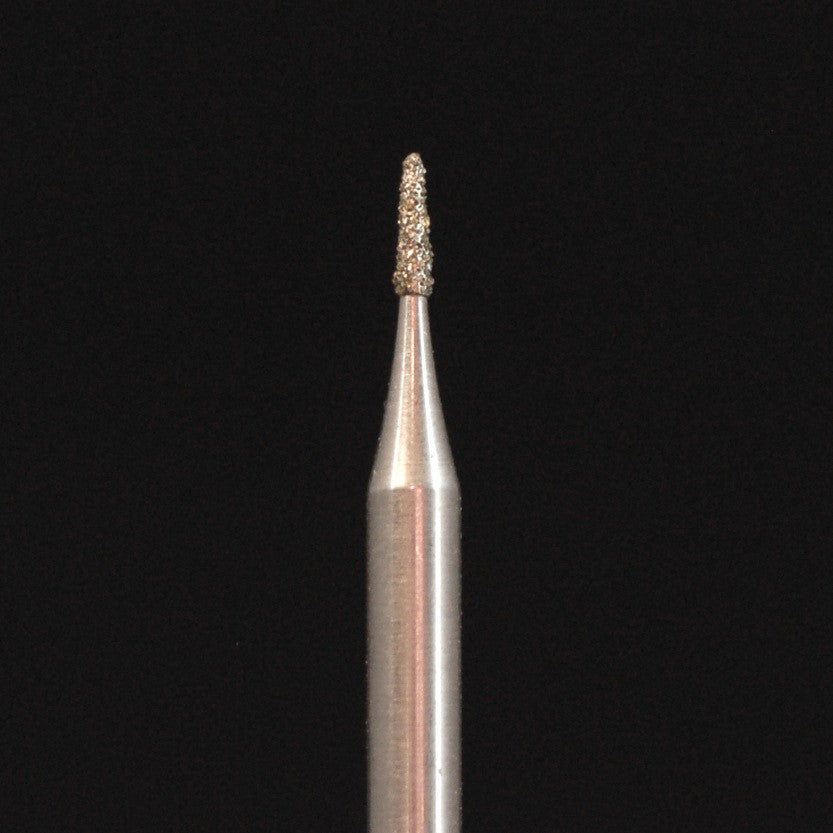 "A&M Instruments Industrial Diamond 0.039"" Flat End Taper - HP845-010 - A & M Instruments Quality Diamond Tools"