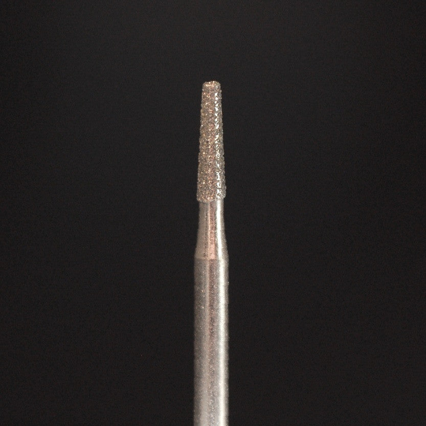 A&M Instruments HP Laboratory Diamond Dental Bur 2mm Long Flat End Taper - HP847-020 - A & M Instruments Quality Diamond Tools