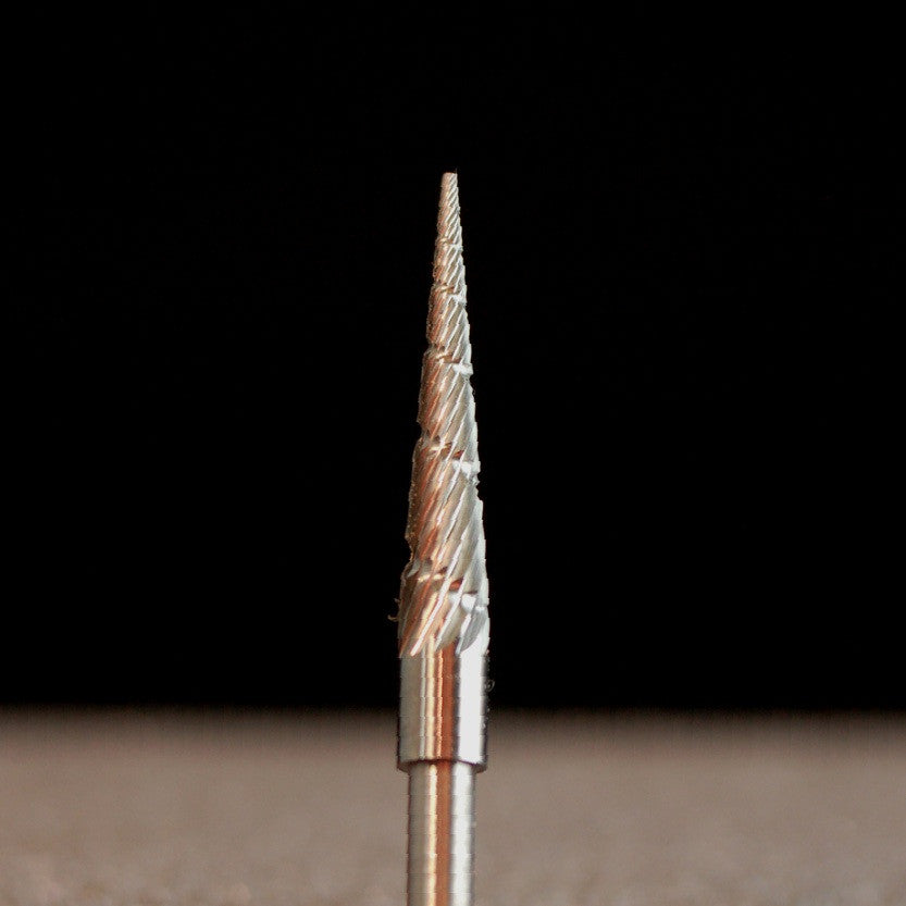 "A&M Instruments Industrial Carbide Bur 0.106"" Flat End Taper - HPC1200 - A & M Instruments Quality Diamond Tools"