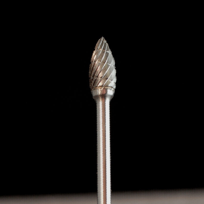 "A&M Instruments Industrial Carbide Bur 0.185"" Flame - HPC1600 - A & M Instruments Quality Diamond Tools"