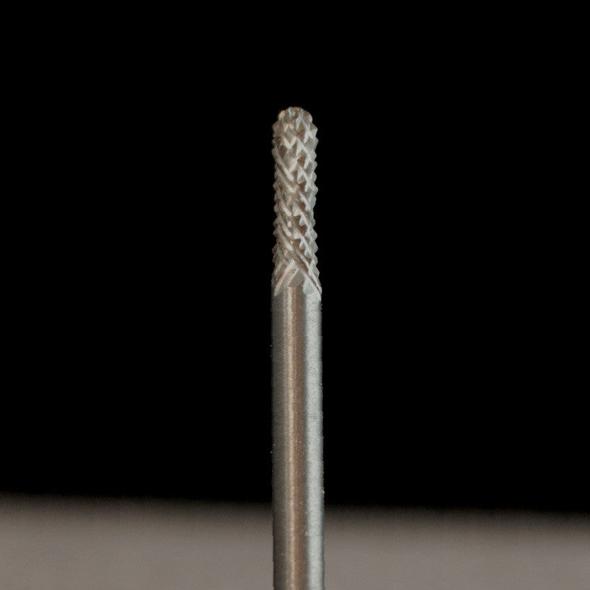 "A&M Instruments Industrial Carbide Bur 0.0827"" Round End Cylinder - HPC200 - A & M Instruments Quality Diamond Tools"