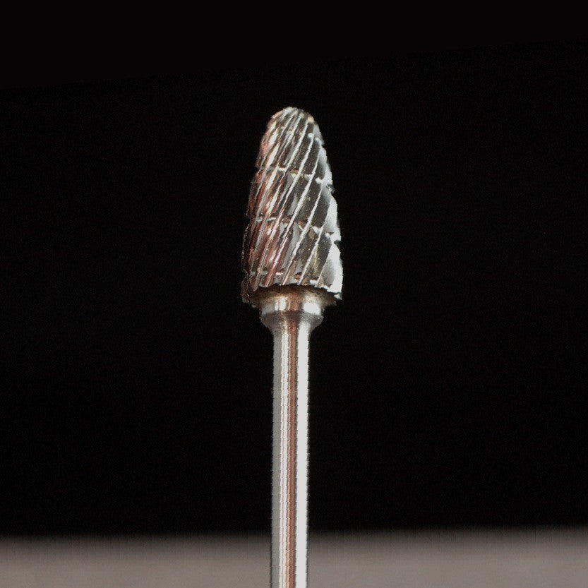 A&M Instruments HP Carbide Bur 6.3mm Blunt Tip Flame - HPC2300 - A & M Instruments Quality Diamond Tools