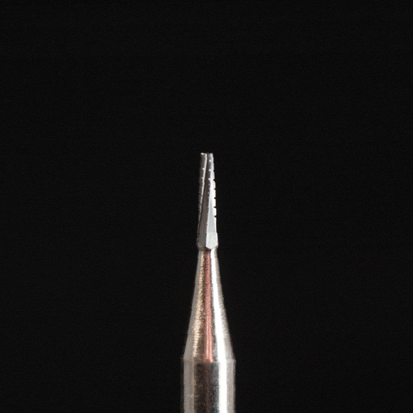 A&M Instruments HP Carbide Bur 1.0mm Crosscut Fissure Taper - HPC699 - A & M Instruments Quality Diamond Tools