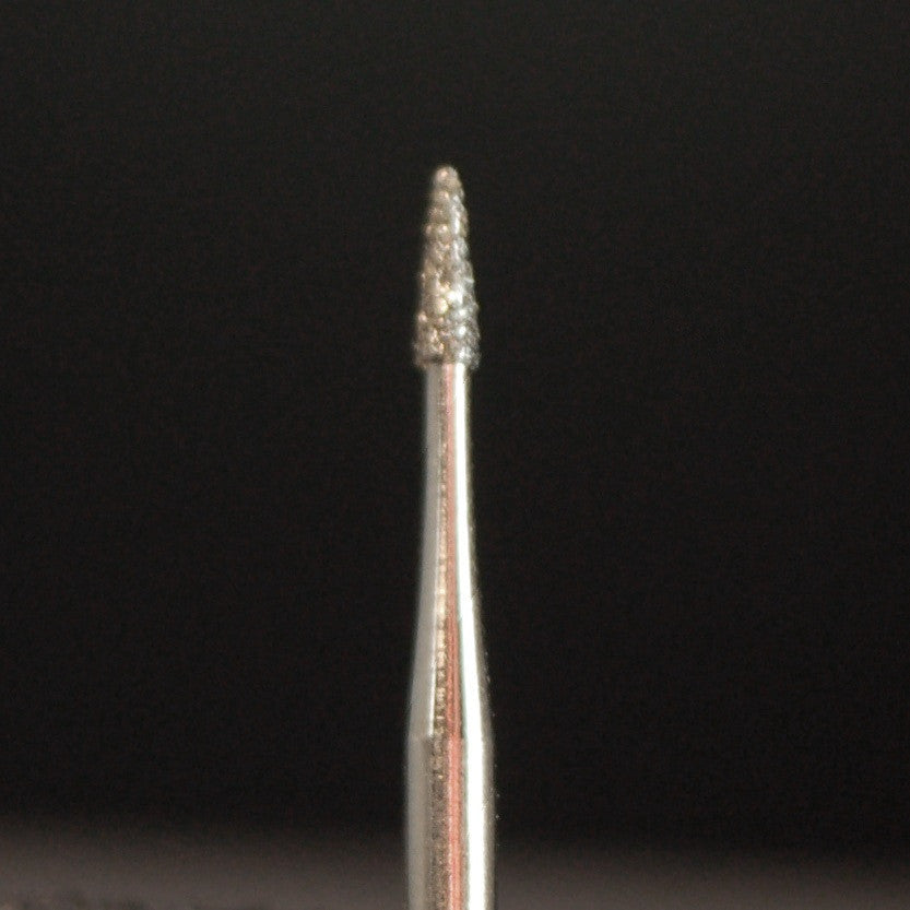 A&M Instruments Single Patient Use FG Diamond Dental Bur 0.9mm Flame - S16 - A & M Instruments Quality Diamond Tools