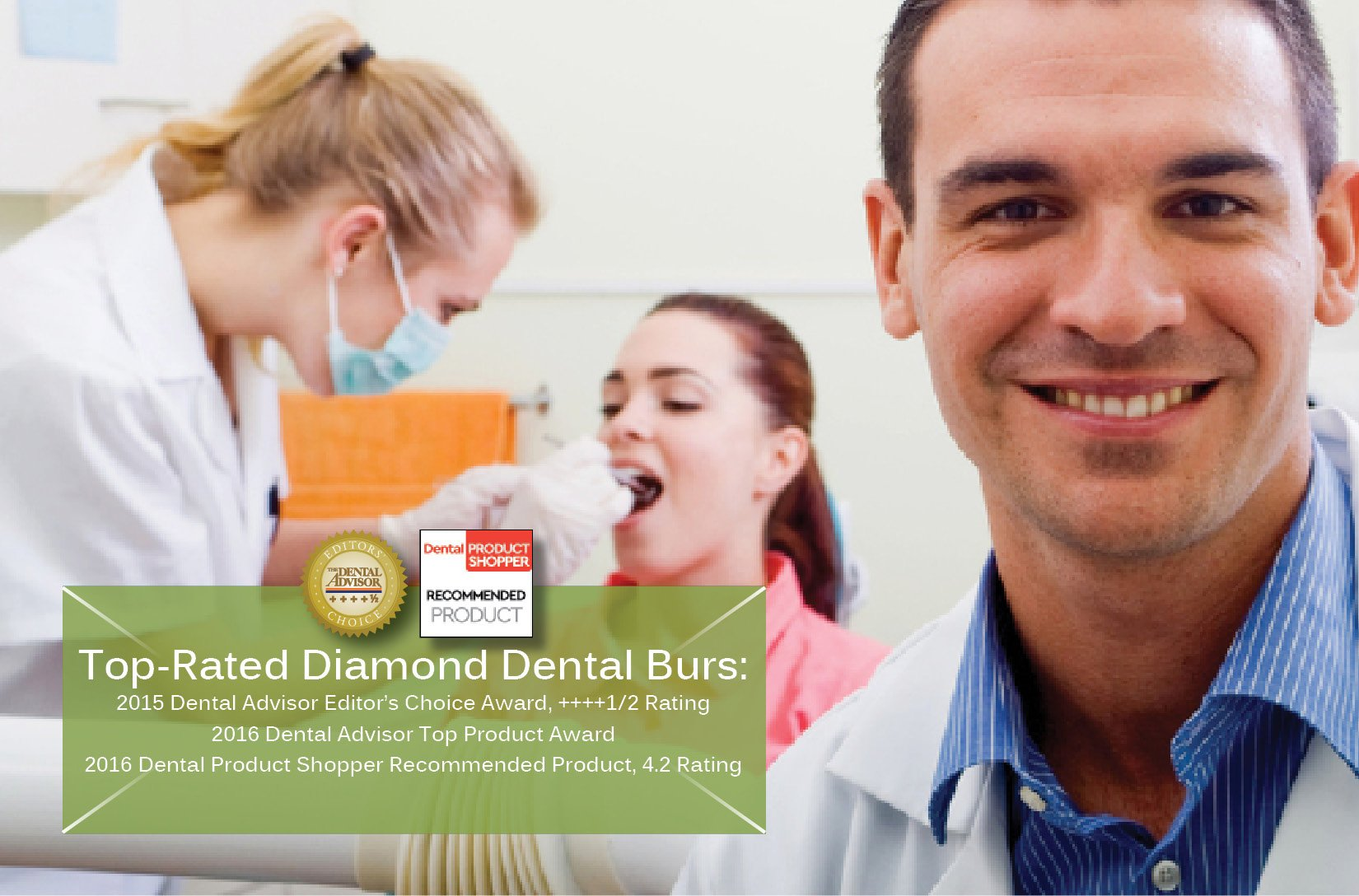 A&M Instruments award-winning diamond and carbide dental burs.