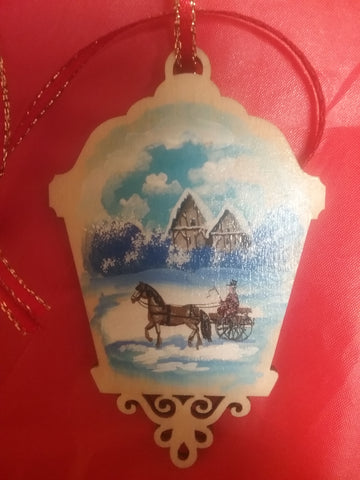Medium hand painted ornament